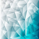Abstract blue Lowpoly vector background. Template for style. Design. Vector illustration. Used transparency layers of background Stock Illustration