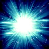 Abstract blue glowing background, star explosion, blue bright ra. Abstract abstract blue luminous background background background beam blue bright rays holiday vector illustration