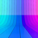 Abstract blue and magenta rolled up plastic stripes. Studio background. 3D rendering Stock Images