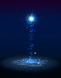 Abstract blue magic light background Royalty Free Stock Photos
