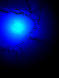 Abstract blue magic light, power details, Stock Photography