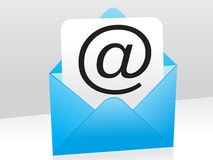 Abstract blue mail icon. Vector illustration stock illustration