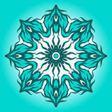 Abstract blue mandala. Abstarct blue mandala. Ornament can be used as a greeting card Stock Images
