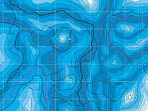 Abstract blue map Stock Images