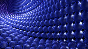 Abstract blue marbles wave background Stock Photography