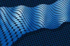 Abstract blue membrane ribbon Stock Photography