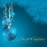 Abstract blue merry christmas background Royalty Free Stock Images