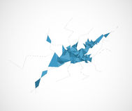 Abstract blue mesh triangle technology background Royalty Free Stock Photo