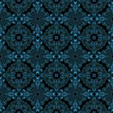 Abstract blue metal like pattern for fabric made seamless Royalty Free Stock Images
