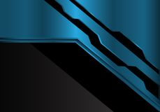 Abstract blue metallic futuristic on black design modern background vector royalty free illustration