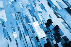 Abstract blue mirrors background Royalty Free Stock Photography