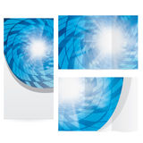Abstract blue modern technology brochure Royalty Free Stock Image
