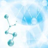 Abstract blue molecule medical background Stock Photos