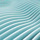 Abstract blue monochrome 3d wave Royalty Free Stock Photo