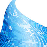 Abstract blue mosaic background Stock Photos