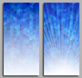 Abstract Blue Mosaic Background Stock Images
