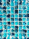 Abstract blue mosaic dimension Royalty Free Stock Photos