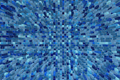 Abstract blue mosaic  extruded. Stock Photos