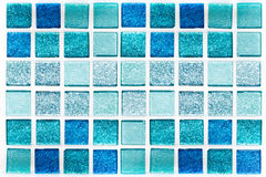 Abstract blue mosaic tiles for background Royalty Free Stock Images