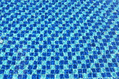 Abstract Blue mosaic tiles pool Stock Image