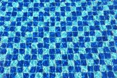 Abstract Blue mosaic tiles pool Stock Photos