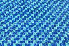 Abstract Blue mosaic tiles pool Royalty Free Stock Photography