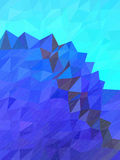 Abstract blue mountain and sky with rain texture Stock Images