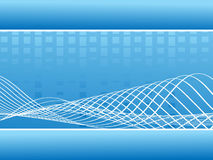 Abstract blue music wavy lines - vector Stock Image