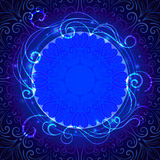 Abstract blue mystic lace background with swirl. Pattern and frame for text, eps10 Stock Images
