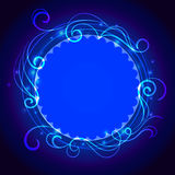 Abstract blue mystic lace background with swirl Royalty Free Stock Photos