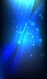 Abstract blue neon on black, tech background Royalty Free Stock Photos