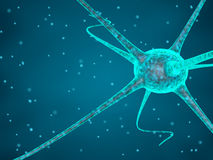 Abstract blue nerve cell royalty free illustration