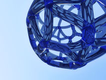 Abstract blue network Stock Photography