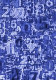 Abstract blue numbers Royalty Free Stock Photos