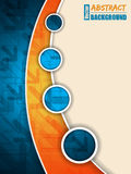 Abstract blue orange brochure with arrows Royalty Free Stock Image