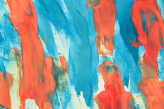 Abstract blue and orange color on paper Royalty Free Stock Images