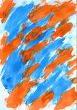 Abstract blue and orange color on paper Stock Photo