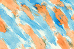 Abstract blue and orange color on paper Royalty Free Stock Image
