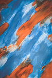 Abstract blue and orange color on paper Royalty Free Stock Photo