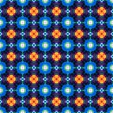 Abstract blue orange dotted texture or background made seamless Royalty Free Stock Photos