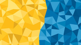Abstract blue orange of many triangles background for use in design Stock Images