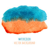 Abstract blue and orange watercolor background Royalty Free Stock Image