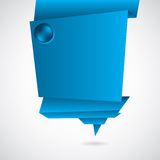 Abstract blue origami background Stock Photo