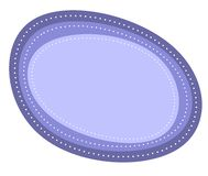 Abstract Blue Oval Logo Stock Photography