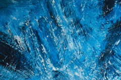 Abstract blue paint strokes on the background Royalty Free Stock Photo