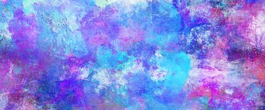 Abstract blue paint textures banner. Abstract blue paint textures background created by using different photographs, scans and hand painted layers, acrylics and stock illustration