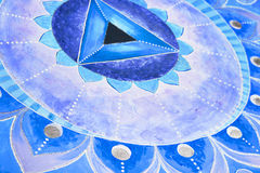 Abstract blue painted picture mandala of Vishuddha Royalty Free Stock Images