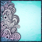 Abstract blue paisley background vector illustration