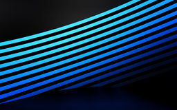 Abstract blue panels with copyspace for text. 3D render Royalty Free Stock Image
