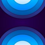 Abstract blue paper circles background Royalty Free Stock Photos